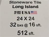 Stoneware tile Long Island 24x24