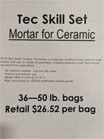Text Skill Set mortar for ceramic 50lb bag