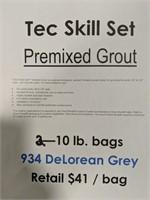 Text skill-set pre-mixed grout 10lb tub DeLorean
