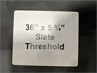 "Tile slate threshold 36""x5.75"" gray"