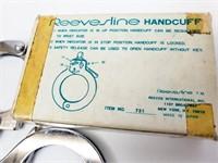 Genuine Vintage Reevesline Handuffs & 2 Keys