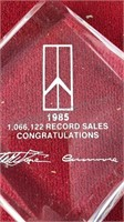"""1985 Oldsmobile Sales Award 7"""" Tall Made of"""