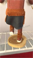 """2 Southwest American Indian Wooden Figures 10"""""""