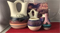 """5 pcs Southwest Pottery 9"""" Tall and Smaller and"""