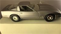 """1984 Silver Corvette Plastic Model 7"""" Long"""