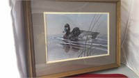 """Signed Numbered and Dated Duck Print 21x17"""""""