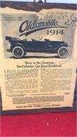 3pcs Vintage Oldsmobile Antique Auto Advertising