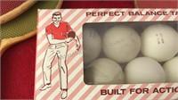 Vintage Wooden Ping Pong Paddles Balls and kids