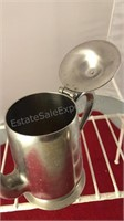 """Pewter and Stainless Steel Pitchers 6"""" Tall"""