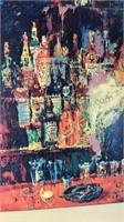 "Framed Leroy Neiman Print ""The Mixologist II"""