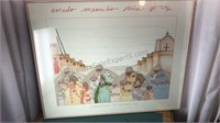 Framed Signed Amado Maurilio Christmas in Sante