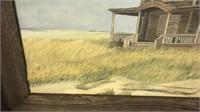 Framed B Patton Landscape In Barnwood Frame
