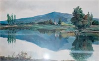 Art Large Original Watercolor on Paper Miravally
