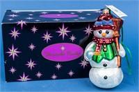 Christopher Radko Snowman Christmas Ornament