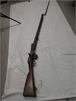 1888 Dutch Bolt action rifle with bayonet