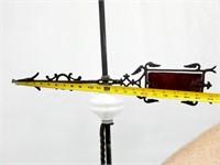 19C Windvane & Stain & Milk Glass Lightning Rod