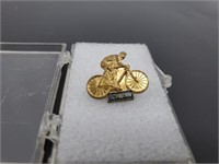 Mid-Century Schwinn Gilt Enamel Promo Pin