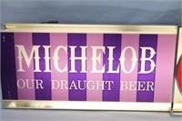 1961 Lighted Michelob Beer Metal Promo Bar Sign