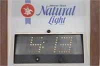 Vintage Anheuser Natural Light Elec Clock Sign
