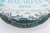"1960's Busch Bavarian 13"" Metal Beer Tray"