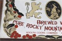 Vintage Adolph COORS Beer Bar Mirror Sign