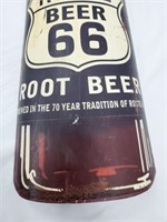 3FT + Route 66 Root Beer 3D Metal Bottle Wall Sign