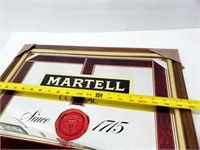 Martell Cognac Since 1715 Wall Mirror Sign NOS!