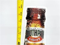 """Huge 30"""" SouthPaw Light Beer Die-Cut Metal Sign"""