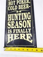 Hunting Season Wall Décor Sign