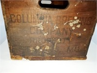 RARE 1935 Columbia Brewing Co Wood Beer Crate