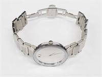 Movado Sapphire Silver Mirror Dial Mens Watch