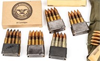 Ammo 350+ Rounds .30-06 with M1 Garand Clips