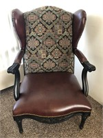 Drexel Leather/Upolstered Arm Chair