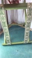"""Vintage Wooden Folding Luggage Stand 19x15x17"""""""
