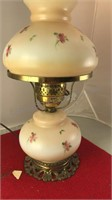 """Antique Electric Hurricane Lamp 17"""" Tall Tested"""