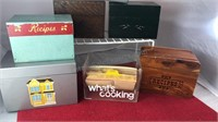 Collection of Metal Wood and Plastic Note Card /
