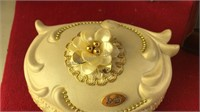 Collection of Wood and Glass Small Trinket Boxes