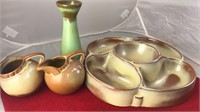 Collection of Frankoma Pottery Chip and Dip and