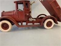 Cast Iron 1920s Dump Truck with Driver