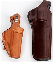Lot of 8 Leather Holsters With Training Guns
