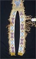 Abenaki  Indian beadwork horse decoration, 5'