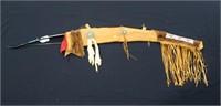Abenaki  Indian leather and beadwork bow case