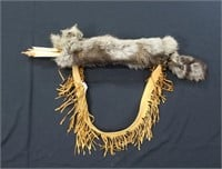 Abenaki Indian quiver made from grey fox with