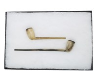 Lot, 2 Indian pipes, Ft. William Henry