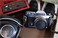 Kodak Instamatic & Icarex 35 Camera w/ 2 Lens