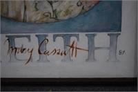 Mary Cassatt Painting & Signed Framed Puzzle