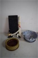 Chef Menu / Pottery