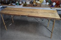 Folding Portable Wooden Table