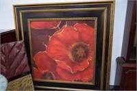 Clock & Flower Painting