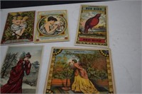 Antique Tobacco Labels